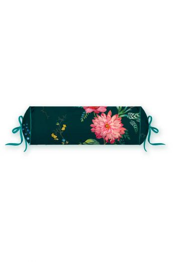 neck-roll-fleur-grandeur-dark-blue-flowers-pip-studio