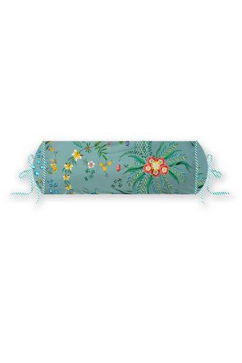 kussen-blauw-bloemen-rolkussen-sierkussen-petites-fleurs-pip-studio-22x70-katoen