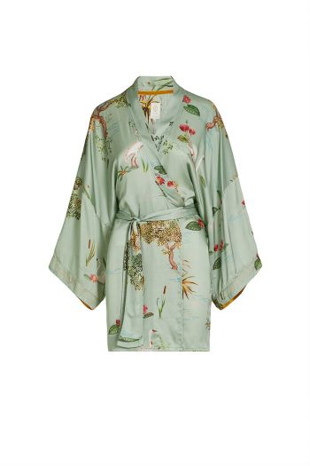 Kimono-light-green-floral-swan-lake-big-pip-studio-cotton-linnen