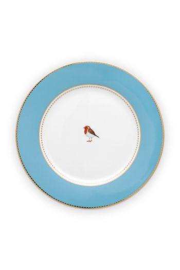breakfast-plate-love-birds-in-blue-with-bird-21-cm