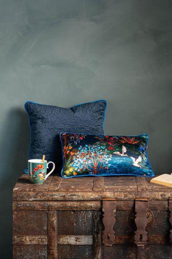 Kussen-set-blauw-botanische-print-sierkussens-fluweel-zijde-pip-garden-quilted-pip-studio