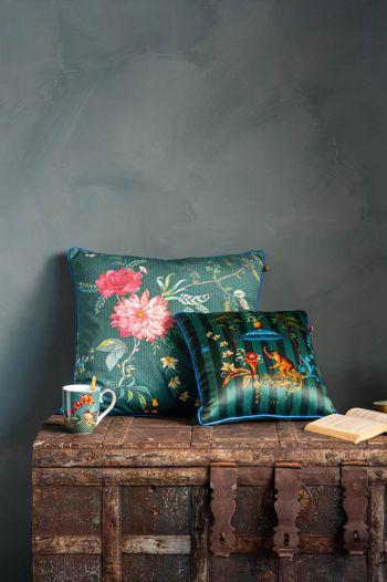 Kussen-set-groen-bloemen-print-sierkussens-fluweel- fleur-grandeur-singerie-pip-studio