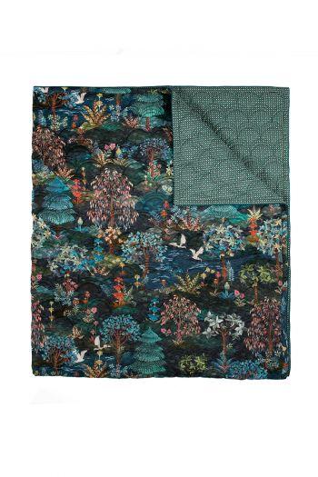 quilt-throw-blanket-plaid-velvet-dark-blue-botanical-pip-garden-180x260-220x260-polyester