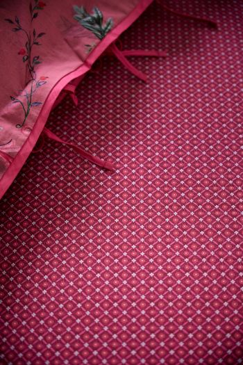 Fitted-sheet-red-startile-pip-studio-cotton-140x200-180x200-cm