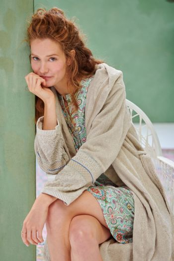 Bathrobe-khaki-jacquard-soft-zellige-pip-studio-cotton-terry-velour