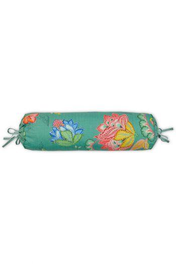 kissenbezug-grün-blumen-nackenrolle-jambo-flower-dekokissen-pip-studio-22x70-baumwolle
