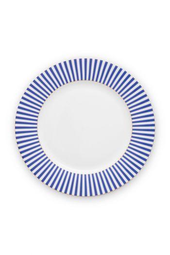 plate-royal-stripes-26.5-cm-6/24-blue-white-pip-studio-51.001.247