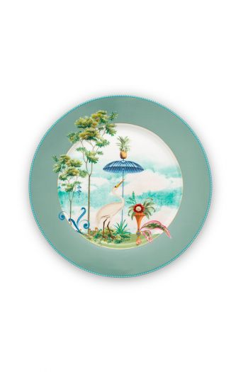 porcelain-plate-jolie-blue-21-cm-6/36-palmtrees-pip-studio-51.001.250