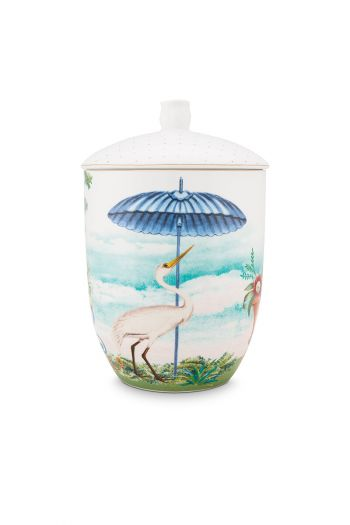 porcelain-storage-jar-joilie-heron-1,5-l-1/8-blue-bird-beach-sun-51.009.031