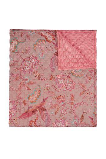 quilt-throw-blanket-plaid-velvet-khaki-royal-birds-180x260-220x260-polyester