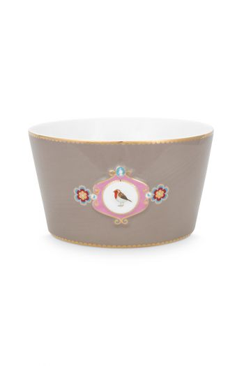 bowl-love-birds-in-khaki-with-bird-15-cm