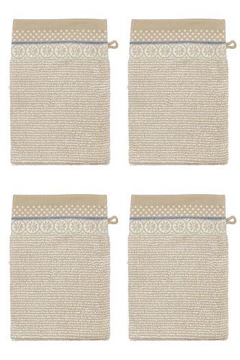 Wash-cloth-khaki-floral-16x22-soft-zellige-set/4-pip-studio-cotton-terry-velour