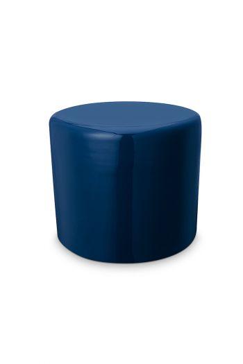 Kruk-poef-donker-blauw-metaal-pip-studio-43x36-cm