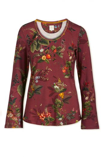 top-lange-mouw-floris-medium-rood