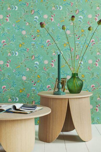 wallpaper-non-woven-vinyl-flowers-green-pip-studio-la-majorelle
