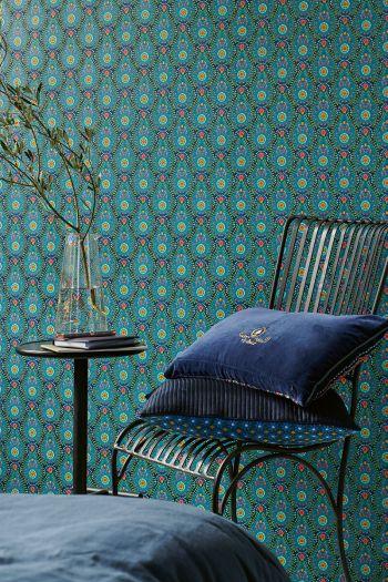 tapete-vlies-tapete-vinyl-botanische-print-dunkel-blau-pip-studio-raindrops