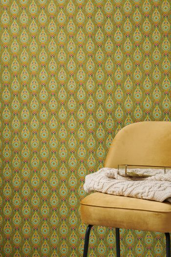 wallpaper-non-woven-vinyl-raindrops-flowers-ocre-pip-studio-raindrops