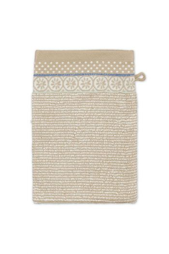 Wash-cloth-khaki-floral-16x22-soft-zellige-pip-studio-cotton-terry-velour