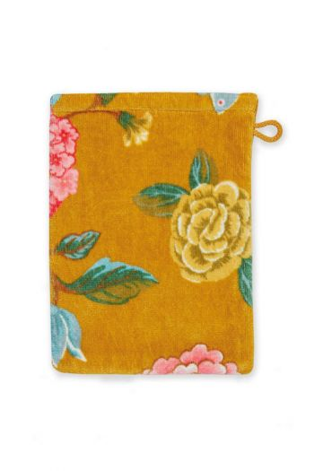Washandje-geel-bloemen-16x22-good-evening-pip-studio-katoen-terry-velour