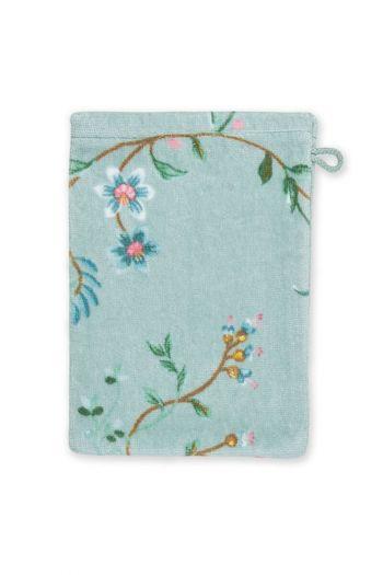 Wash-cloth-blue-floral-16x22-les-fleurs-pip-studio-cotton-terry-velour