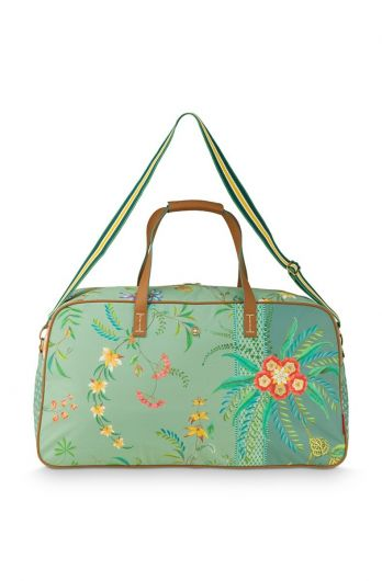 weekend-bag-large-petites-fleurs-green-65x25.5x35-cm-nylon/satin-1/12-pip-studio-51.273.238