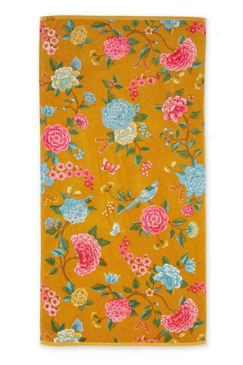 Bath-towel-xl-floral-yellow-70x140-good-evening-pip-studio-cotton-terry-velour
