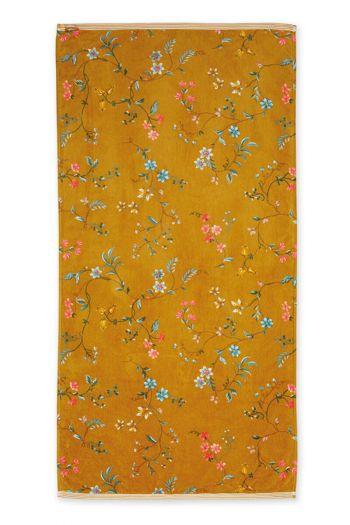 Bath-towel-xl-floral-yellow-70x140-les-fleurs-pip-studio-cotton-terry-velour