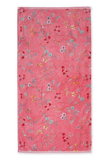 Douchelaken-handdoek-xl-roze-70x140-les-fleurs-pip-studio-katoen-terry-velour