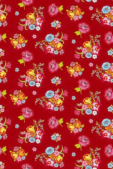 Bunch of Flowers wallpaper red