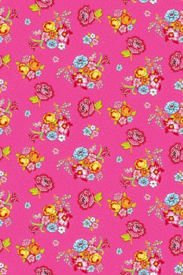 Bunch of Flowers wallpaper pink