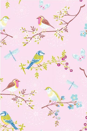 Early Bird wallpaper pink