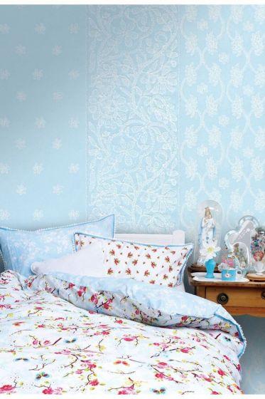 Sari wallpower blauw