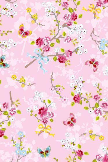 Chinese Rose pink wallpaper pink