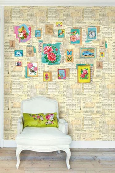 Sing-along wallpower offwhite