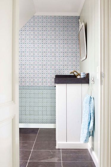 Bright Pip Tiles wallpower blauw