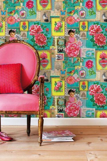 Pip Art wallpower groen
