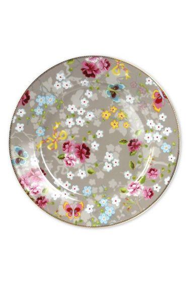 Floral Platzteller khaki