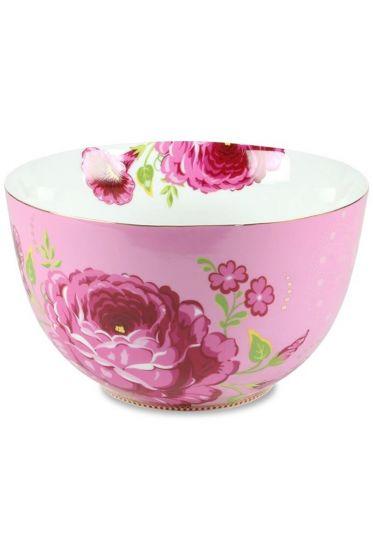 XL Floral bowl pink