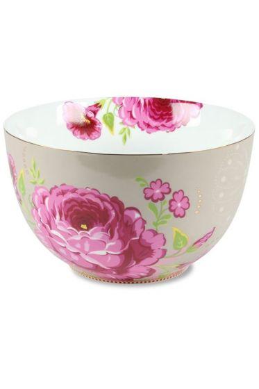 XL Floral bowl khaki