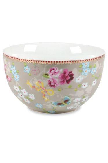 L Floral bowl khaki