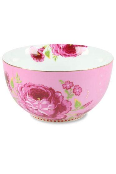 S Floral bowl pink