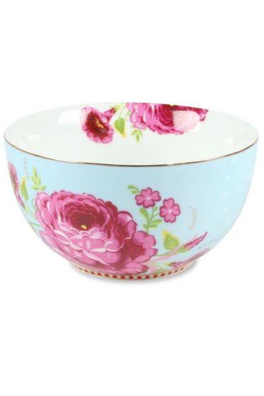 S Floral bowl blue