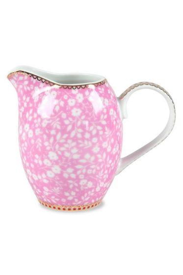 Floral Milchkanne rosa