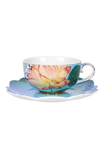 Royal tea cup & saucer multicoloured
