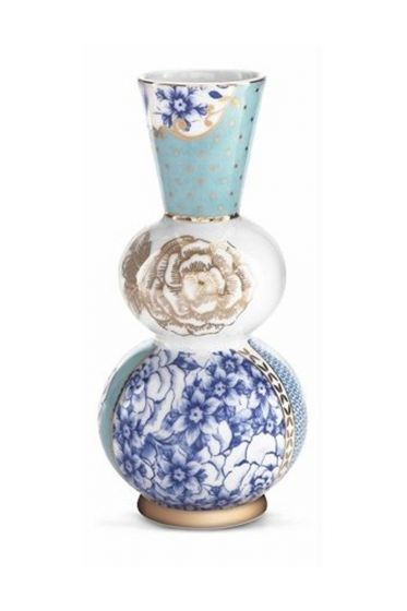 Royal vase round blue