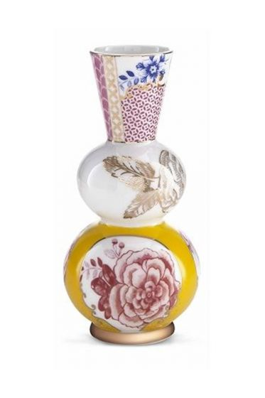 Royal vase round yellow