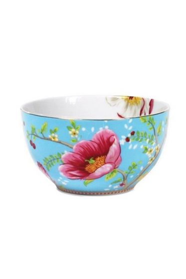 Floral Chinese Garden bowl blue