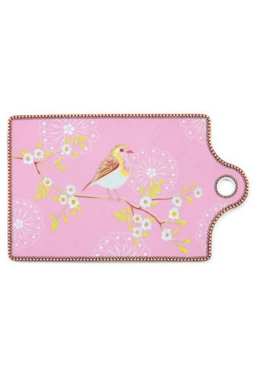 Floral Early Bird cheese board pink