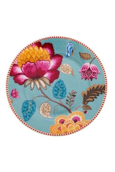 Floral Fantasy underplate blue