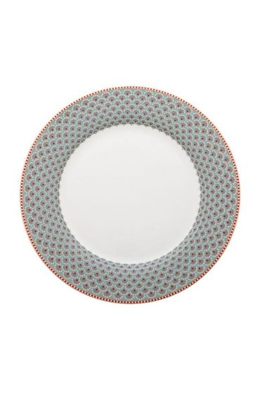 Floral Fantasy dinner plate blue